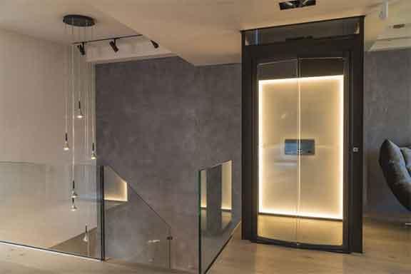 مصعد بدون تأسيس أو حفر